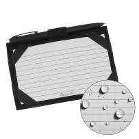 """Rite in the Rain Weatherproof Index Card Kit: Black CORDURA Fabric Cover, 100 Gray 3"""" x 5"""" Index Cards, and an Weatherproof Pen (No. 991B-KIT)"""