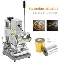 SUNCOO Hot Foil Stamping Machine 2.4x3.5 Inch Bronzing Machine Embossing Machine Printing Logo for PVC Card PU Leather Cloth Paper Credit Card with Foil Paper