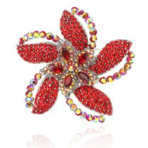 SP Sophia Collection Fashion 4 Petal Flower Decorative AAA Cubic Zirconia Sparkly Flower Brooch