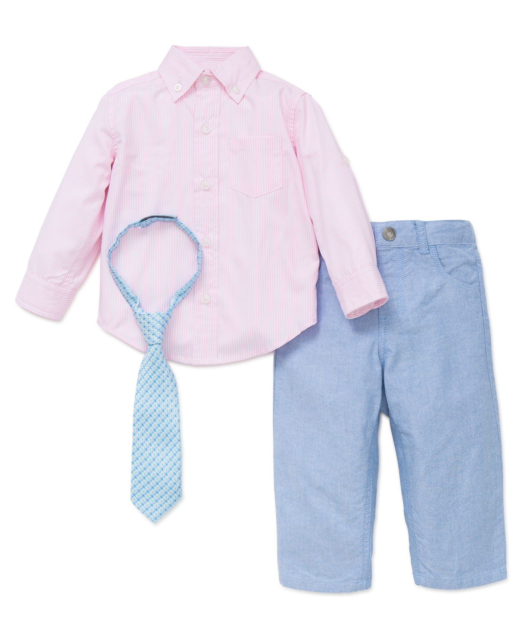Little Me Baby Boys' Button Up Woven Pant Set