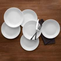 """Corelle Livingware Winter Frost White 10.25"""" Dinner Plate, Set of 6"""