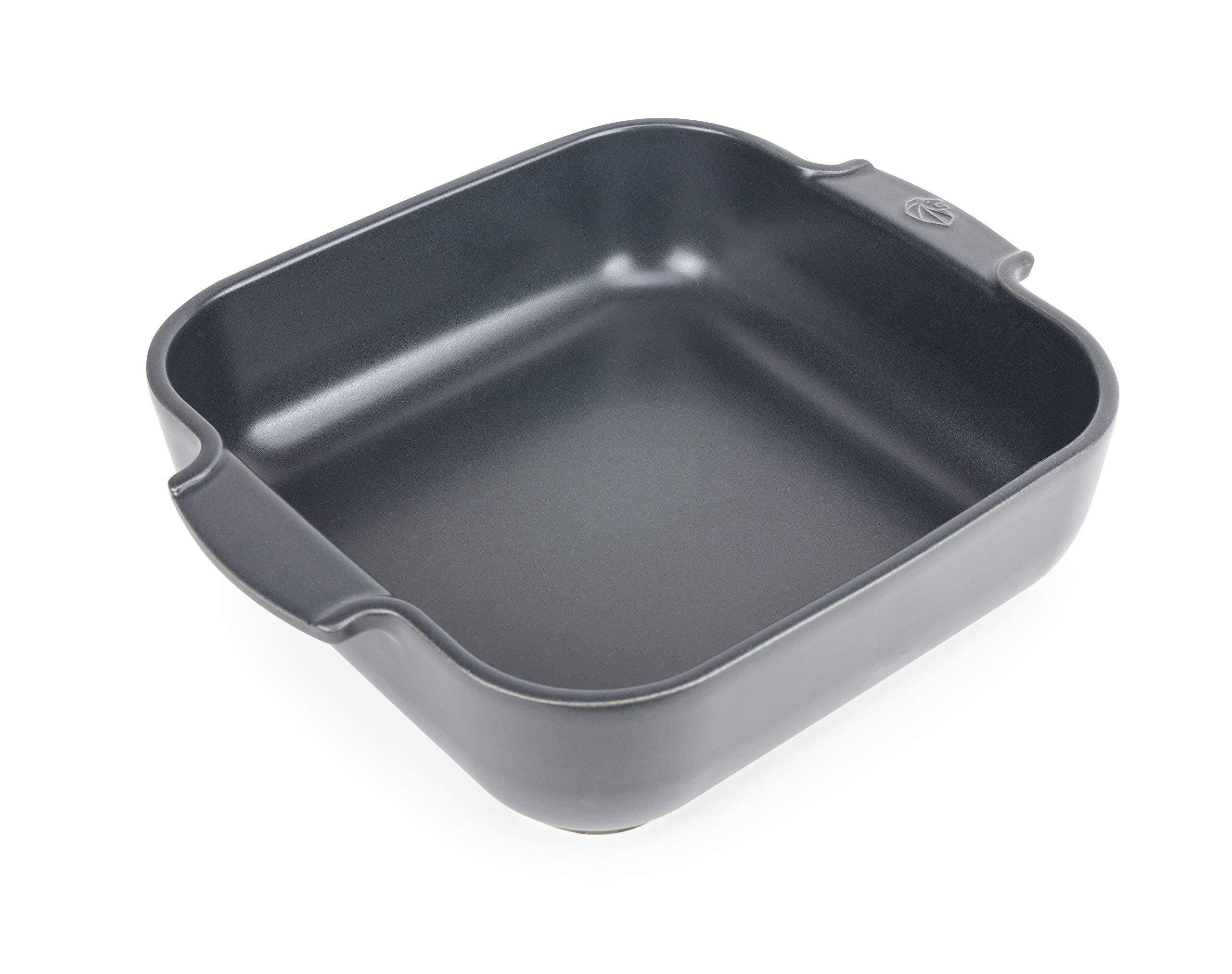 Peugeot Appolia, 28cm Square Baking Dish, 8.8 x 8.8 x 2.6 inch interior, Slate