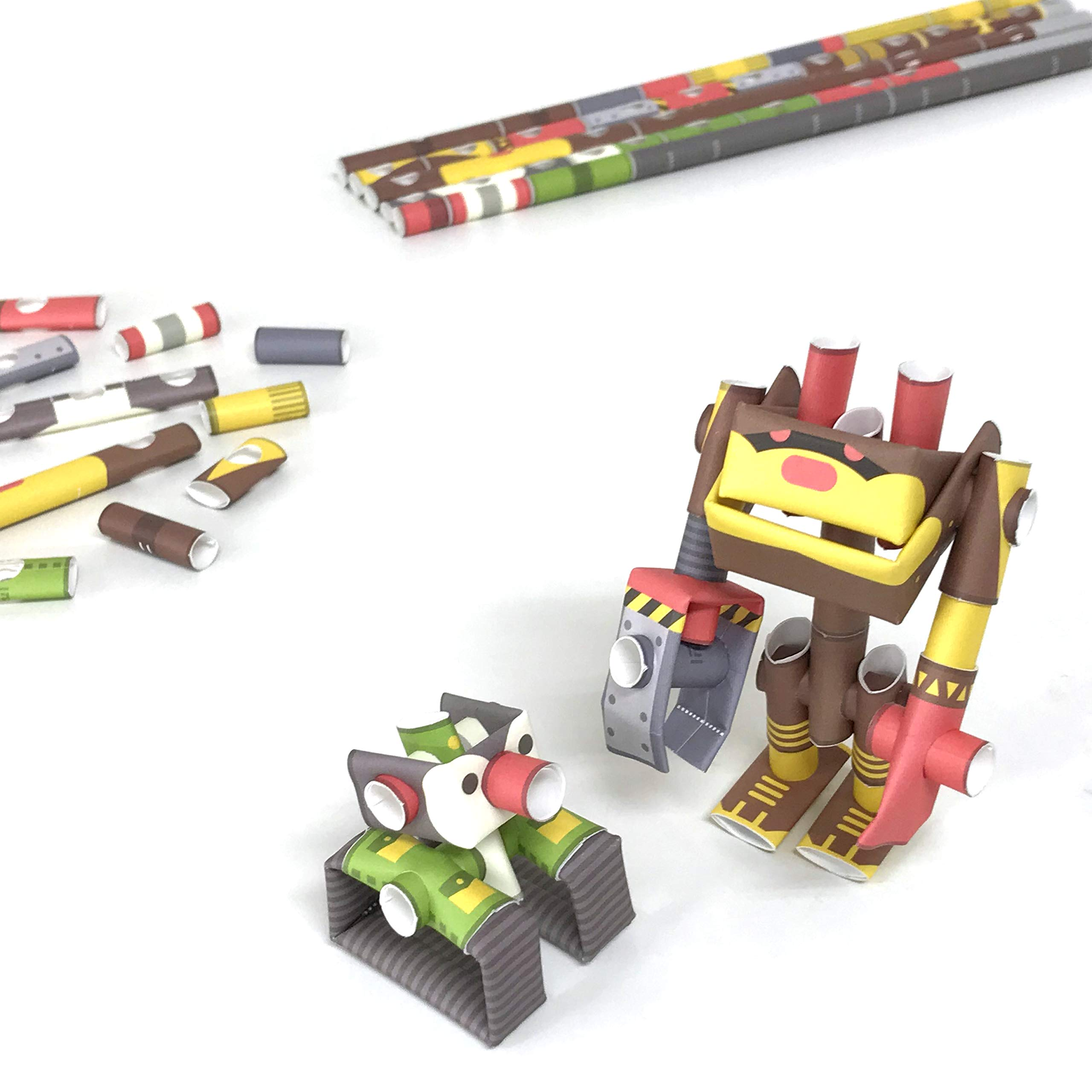 PIPEROID DIY Paper Craft Kit Penk & Bearborg Professor & Robot Bear - Japanese Arts and Craft Kit for Kids and Adults - Birthday Gift and Party Favor for 3D Puzzle and Origami Paper Craft Enthusiasts