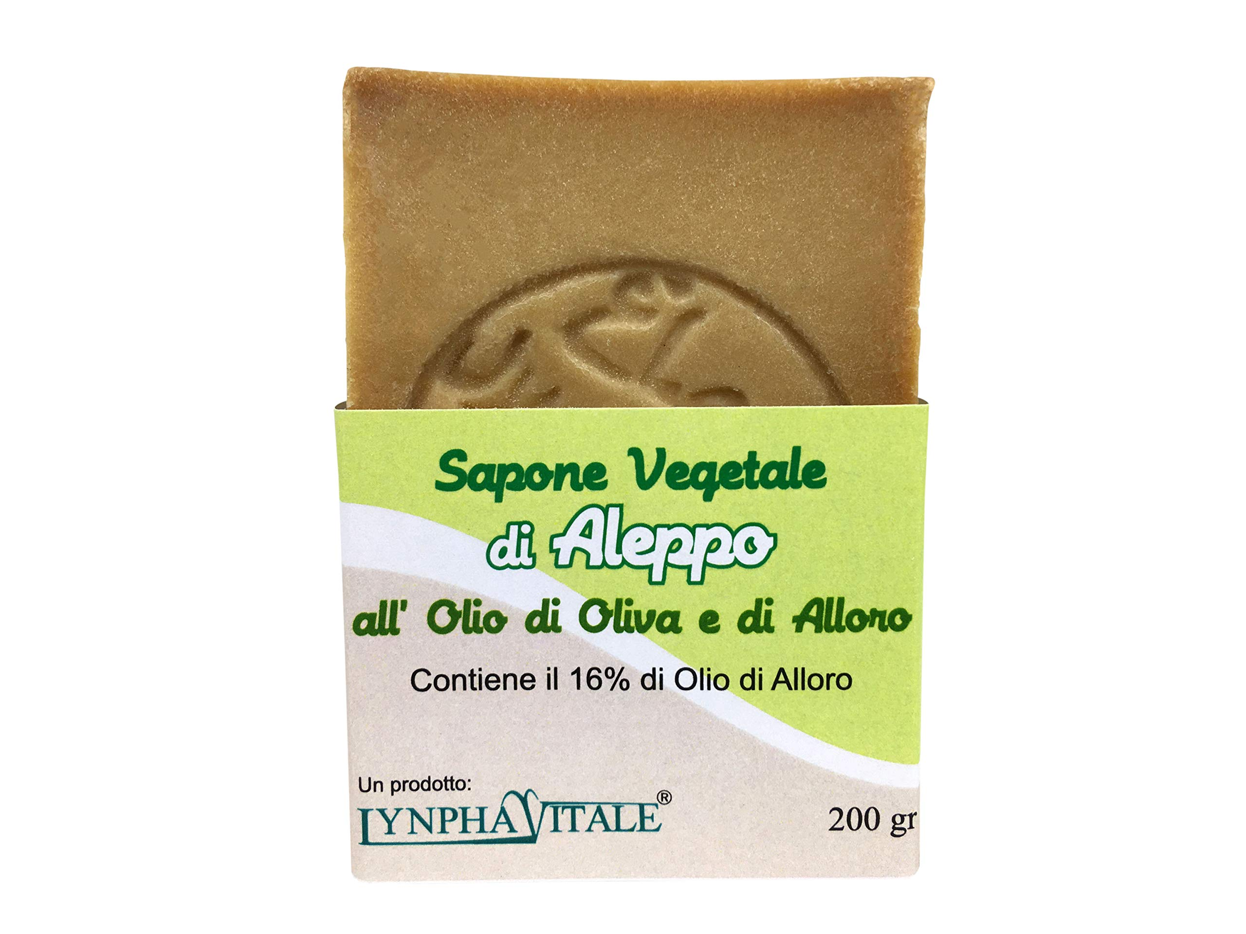 Handmade Aleppo soap Bar - with Olive Oil and 16% of Laurel Oil – Original Recipe - Traditional, Pure and Organic Soap - Suitable for Sensitive Skins – Ideal as Body Soap and Shampoo