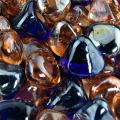 Marmalade Skies - Blended Fire Glass Diamonds for Indoor and Outdoor Fire Pits or Fireplaces | 10 Pounds | 1 Inch