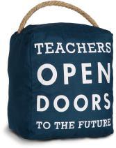 Pavilion Gift Company Decor-Teachers Open Future Navy Door Stopper Gift