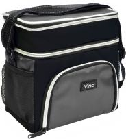Insulated Lunch Cooler Bag, Vina Small Adult Dual Compartment Reusable Bento Lunch Tote with Shoulder Strap for Men and Women, Black