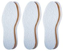 Pedag Washable Summer Pure Cotton Terry Barefoot Insole, White, US L7/EU 37, (Pack of 3)