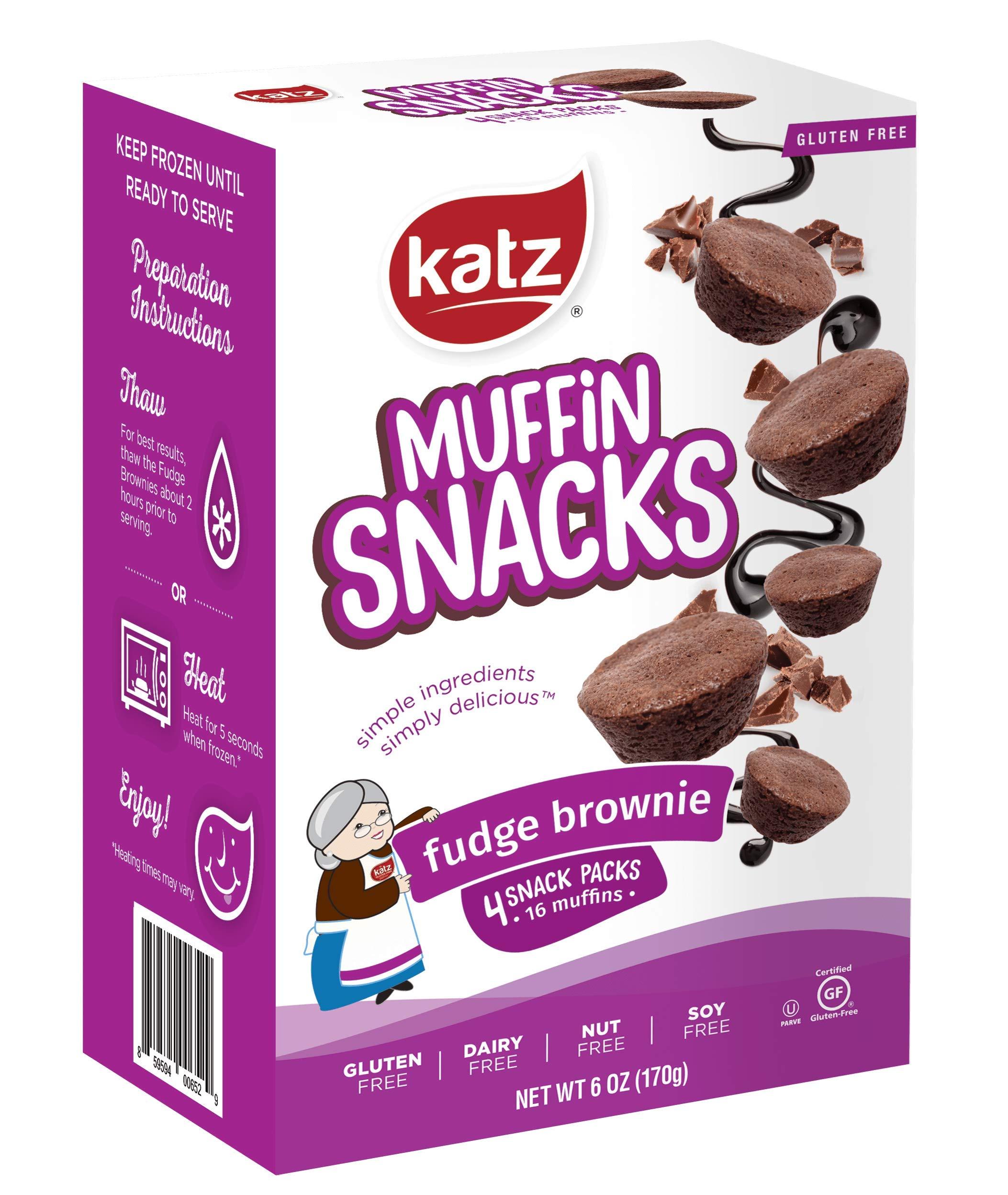 Katz Gluten Free Fudge Brownie Muffin Snacks   Dairy Free, Nut Free, Soy Free, Gluten Free   Kosher (3 Packs, 6 Ounce Each)