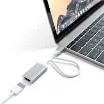 Satechi Aluminum Type-C HDMI Adapter 4K (60Hz) - Compatible with 2020 MacBook Pro, 2020 MacBook Air, 2020 iPad Pro and More (Silver)