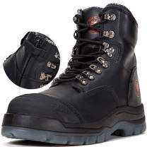 ROCKROOSTER Mens Work Boots, Waterproof Non-Slip Oiled Safety Shoes, Kevlar, Coolmax, Poron XRD, ASTM F2413, Anti-Fatigue