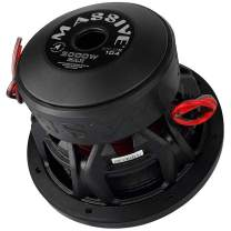 """Car Subwoofer by Massive Audio KILOX104 - High SPL Bass 10"""" Subwoofer - 10 Inch Car Audio 2,000 Watt MAX, 1000w RMS, Competition Subwoofer, Dual 4 Ohm, 3 Inch Voice Coil. Sold Individually"""