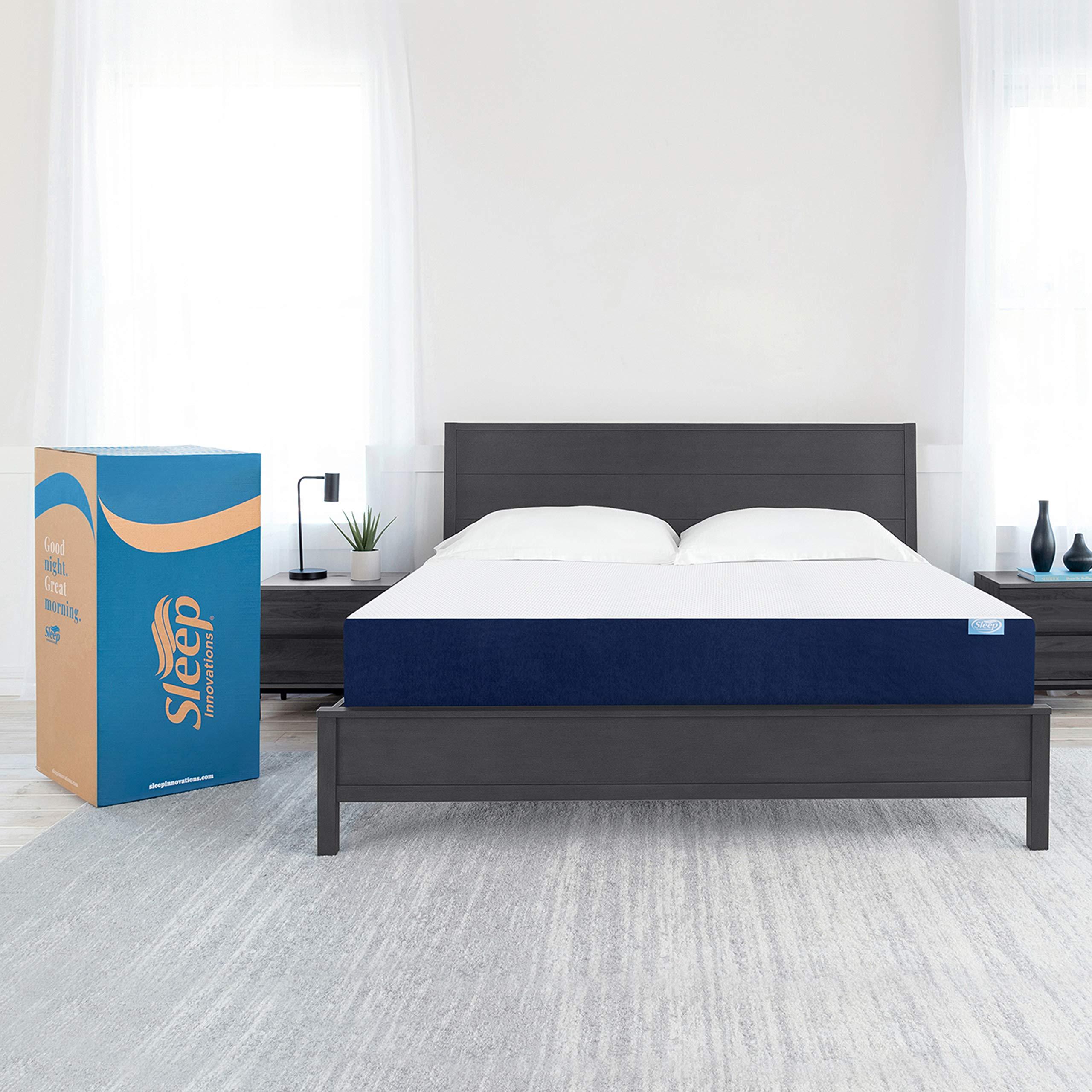 Sleep Innovations Marley 10-inch Memory Foam Mattress, Cal King, White