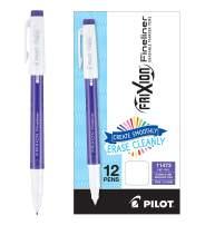 PILOT FriXion Fineliner Erasable Marker Pens, Fine Point, Purple Ink, 12 Count (11473)
