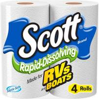 Scott Rapid Dissolve Bath Tissue, 4-Rolls (Pack of 2)