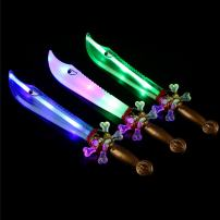 Fun Central 3 Pack - 16.5 Inches LED Light Up Pirate Swords for Kids - Pirate Party Supplies - Assorted Colors