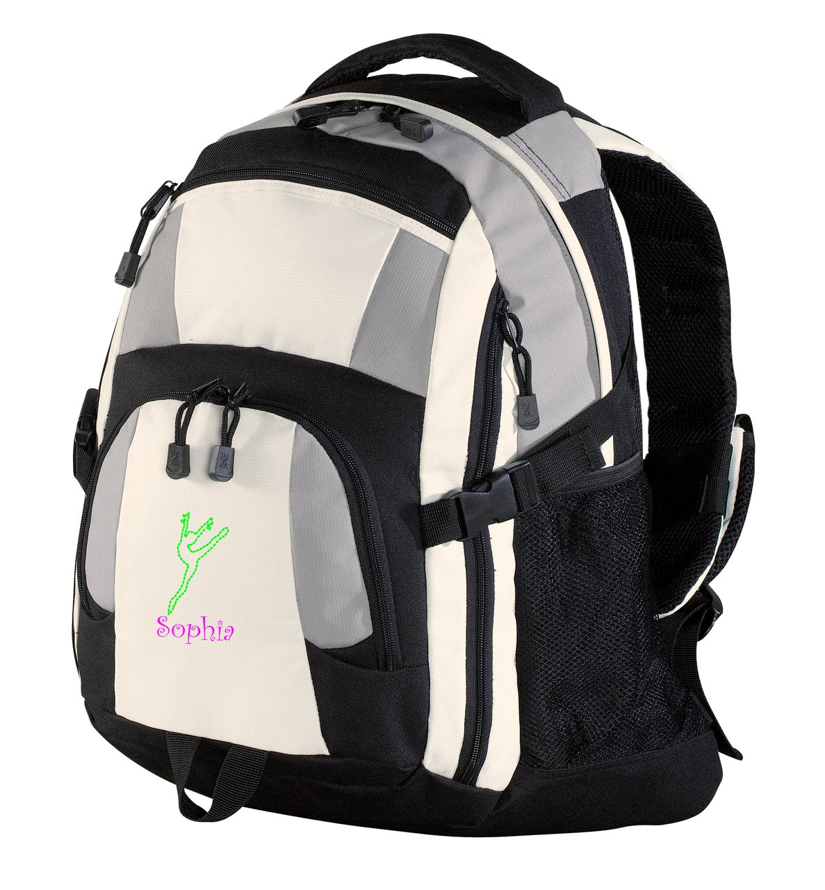 all about me company Personalized Dance 2 Urban Backpack (Grey/Black/Stone)