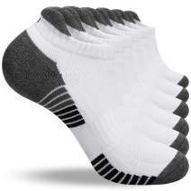 LANYI Ankle Running Socks Men Women Low Cut Sports Athletic Cotton Socks Casual Comfy Deodorization Tab Socks 6 Pack