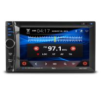 """XO Vision 6.2"""" Car Stereo Receiver   Double DIN Digital LCD Touchscreen System, Bluetooth, DVD Player   Wireless Remote Control With Rear View Camera"""