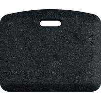 "WellnessMats Granite Anti-Fatigue Mat - Comfort, Support & Style - Non-Slip, Non-Toxic - 18""x22""x 3/4"" Granite Onyx"
