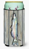 Caroline's Treasures 8494TBC Fish Speckled Trout Tall Boy Beverage Insulator Beverage Insulator Hugger, Tall Boy, multicolor