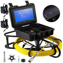 Mophorn Sewer Camera 300ft Pipe Pipeline Inspection Camera 9 Inch Color LCD Monitor Pipe Inspection Equipment IP68 Borescope Endoscope Waterproof (Camera Size: 23mm x 120mm)