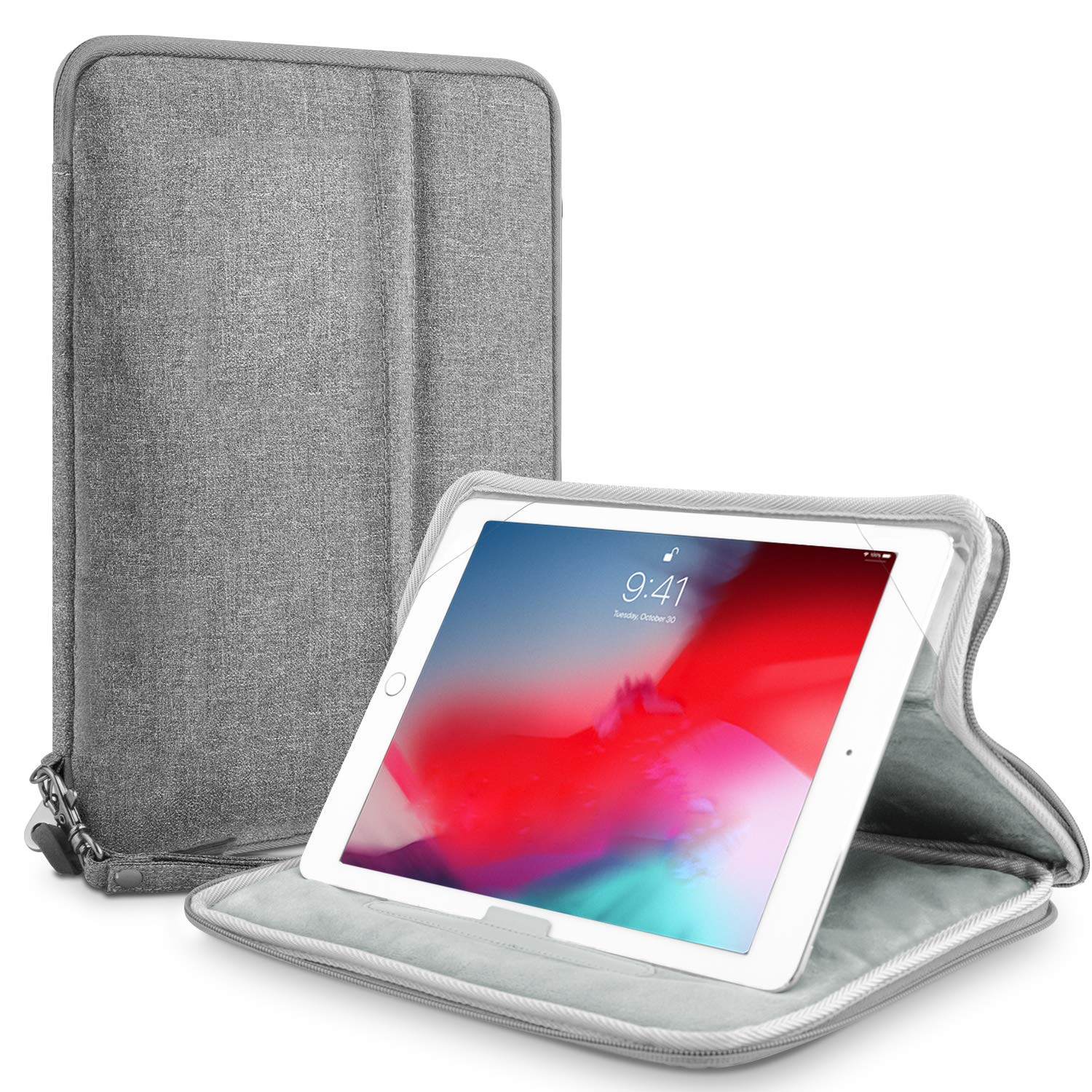 "7-11 Inch Tablet Sleeve Case, Yunerz iPad Tablet Sleeve 11 Inch Shockproof Water Resistant Full-Body Protective Bag for 11"" New iPad Pro 2018/ iPad air 1/2 /iPad Pro /7.9 iPad (Gray)"