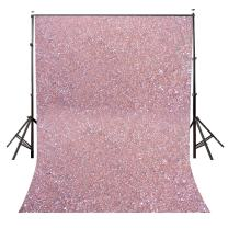 LYLYCTY 5x7ft Polyester Pebbles Backdrop Millennial Pink Photo Studio Background Props LYGE818
