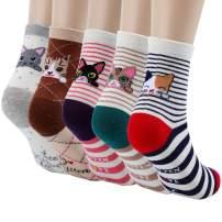 Jeasona Women's Cute Animals Socks for Girls Funny Funky Novelty Socks