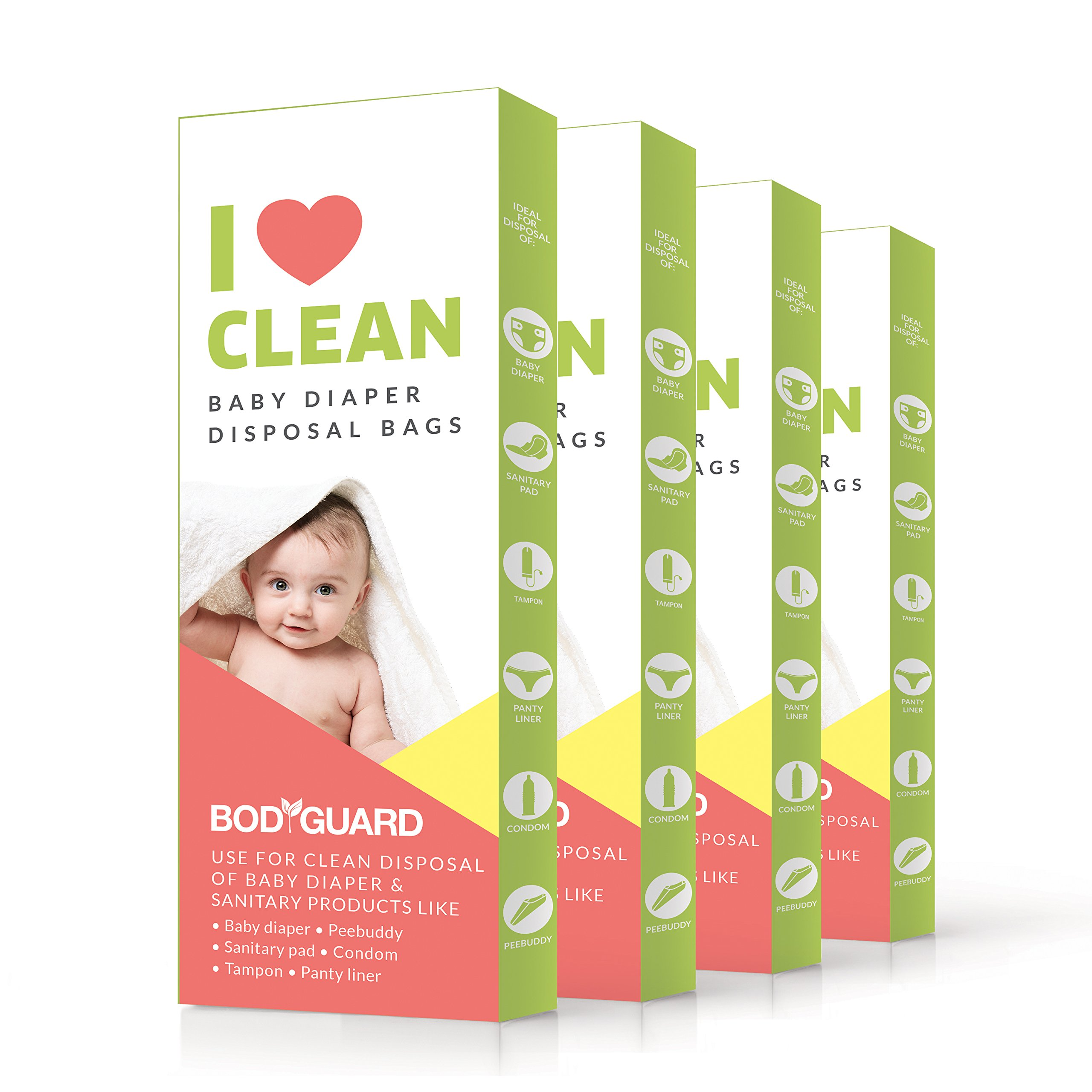 Bodyguard baby diaper disposable bags