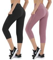 HOFI High Waist Yoga Pants for Women Side & Inner Pockets with Tummy Control