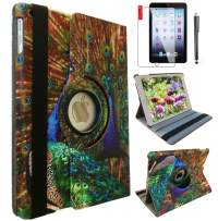IPad 5th/ 6th Generation Case IPad Model A1822 A1823 Case for iPad 9.7 Inch 2017/2018 Smart Stand Case Support Wake/Sleep Function Peacock Design