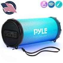 "Wireless Portable Bluetooth Boombox Speaker - 100Watt Hi-Fi Rechargeable Boom Box Speaker Portable Music Barrel Loud Stereo System With AUX Input, MP3/USB/SD Port, Fm Radio, 2"" Tweeter - Pyle PBMSPRG3"