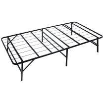 "Naomi Home idealBase 14"" Foldable Metal Platform Bed Frame - Mattress Foundation - Box Spring Replacement Twin/Black"