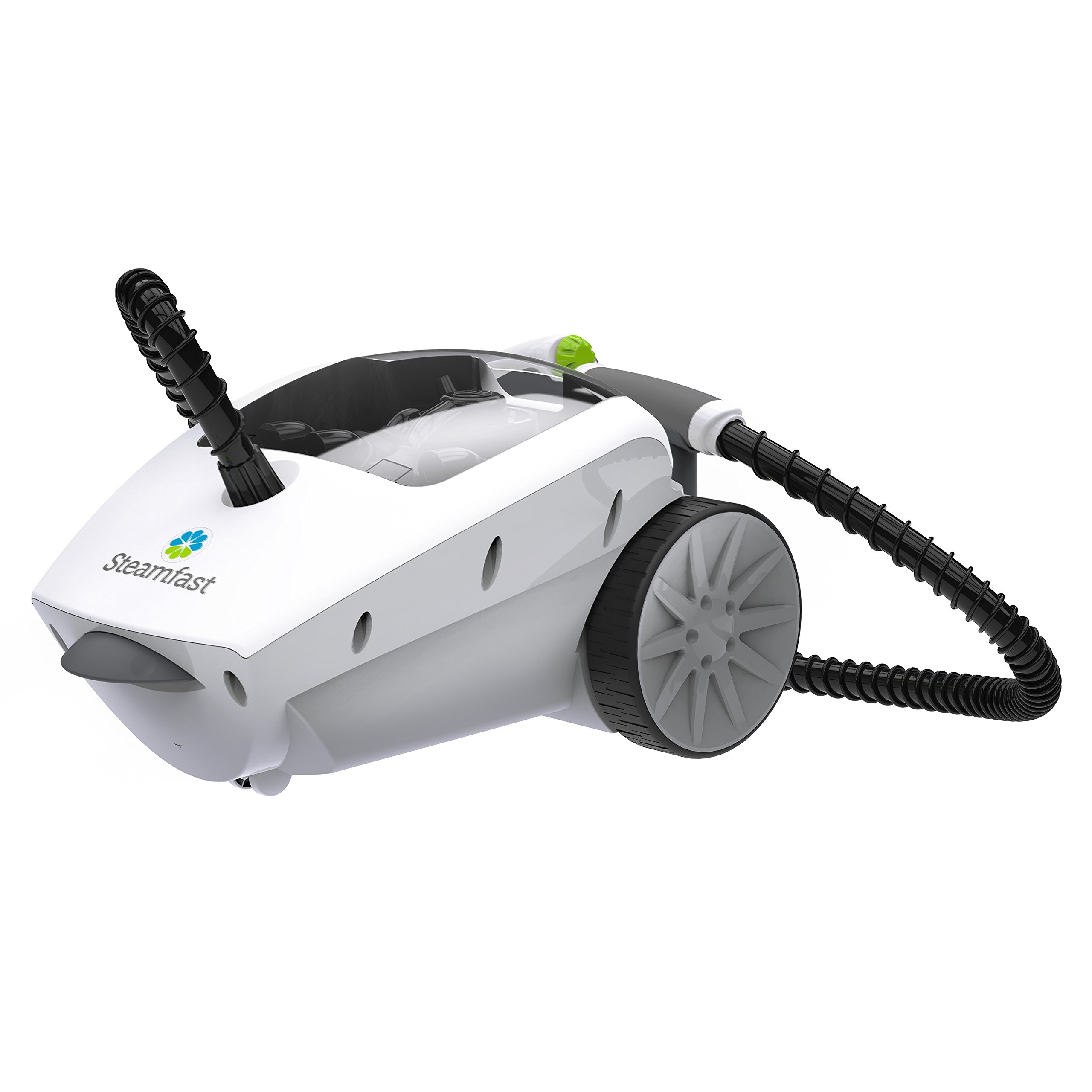 Steamfast SF-375 Deluxe Canister Cleaner with 18 Accessories, Continuous Steam Trigger, and Onboard Storage
