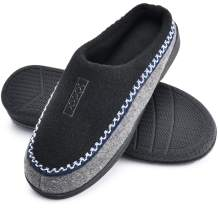 DL Memory Foam House Slippers for Men Indoor, Comfy Slip On Men's Home Houseshoes Slippers,Warm Cozy Winter Non Skid Mens Bedroom Slippers Size Black Grey Brown