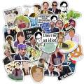 The Office Stickers 50pcs Laptop Funny Stickers Waterproof Vinyl Stickers Adults for Water Bottles Notebook Skateboard Phone Guitar Luggage Travel (set-AZ069)