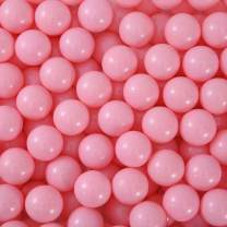 Thenese Pit Balls Crush Proof Plastic Children's Toy Balls Macaron Ocean Balls Small Size 2.15 Inch Phthalate & BPA Free Pack of 300 Pure Pink