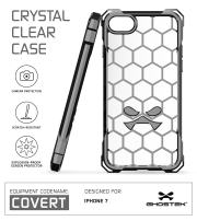 iPhone 7 Case, Ghostek Covert Series for Apple iPhone 8 Premium Hybrid Impact Protective Armor Case Cover | Clear TPU | Explosion-Proof Screen Protector | Ultra Fit | Bumper Spring Corners (Gray)