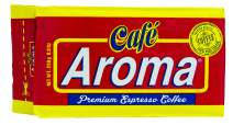 Premium Espresso Ground Coffee - from Cafe Aroma, (12 Pack) Cuban Style Dark Roast Ground Coffee, Vacuum Pack 250g (8.83 oz)