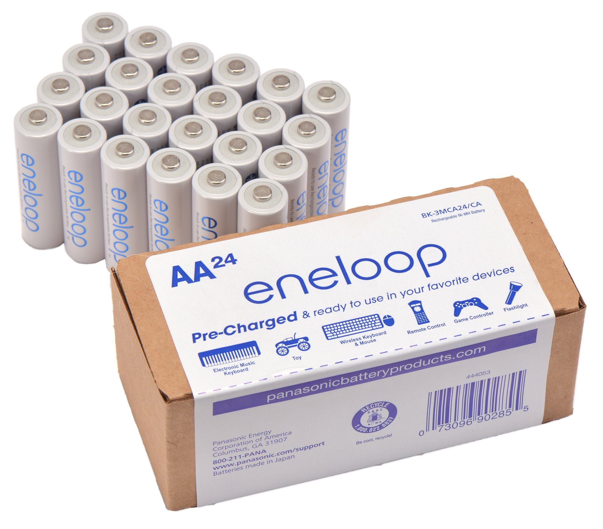 Panasonic BK-3MCA24/CA eneloop AA 2100 Cycle Ni-MH Pre-Charged Rechargeable Batteries 24 Pack