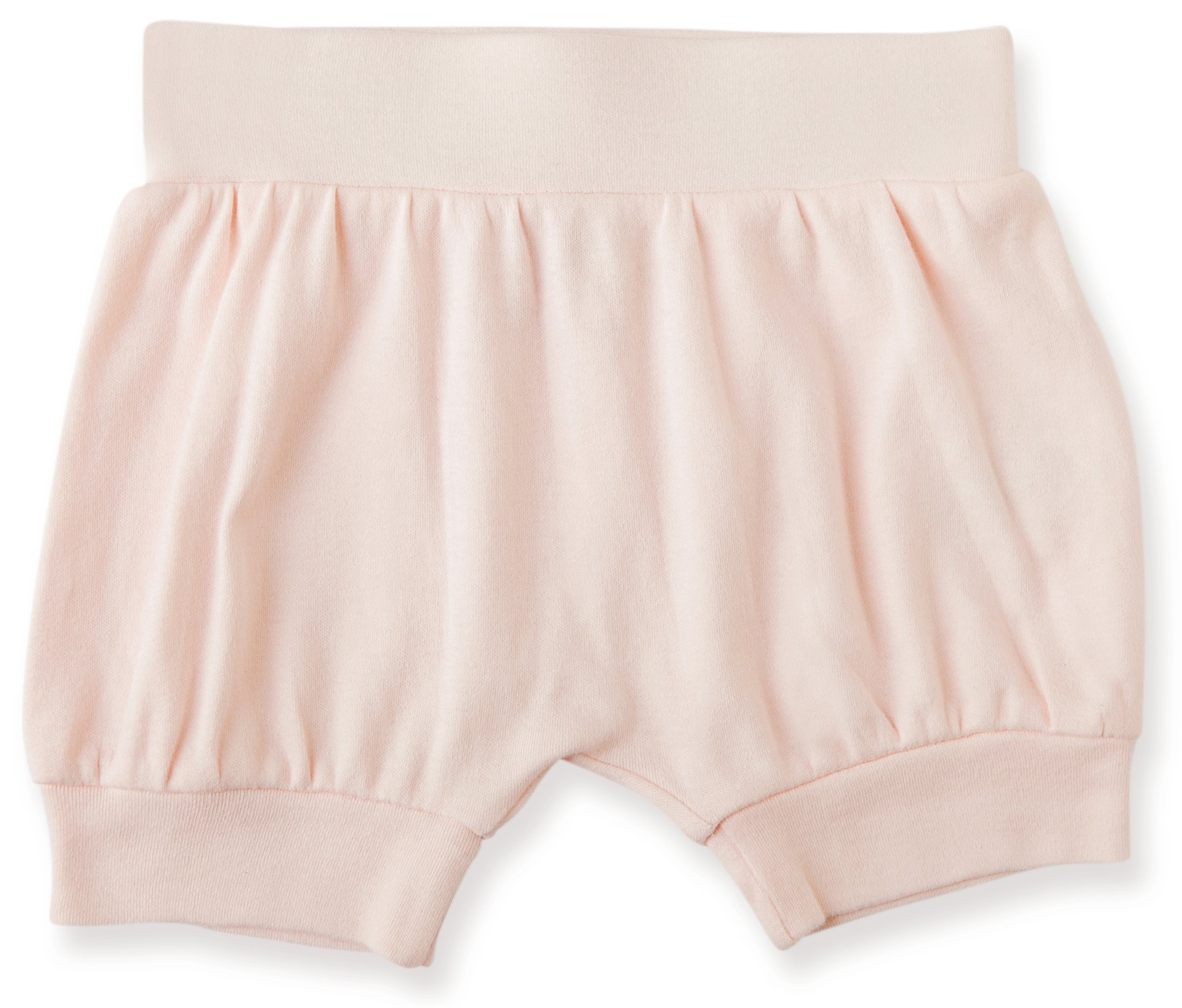 Finn + Emma Organic Cotton Shorts for Baby Boy or Girl – Pearl Pink, 0-3 Months
