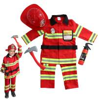 DRESS 2 PLAY Pretend Costume, with Accessories (Firefighter/Pants) Red