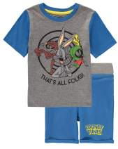 """Looney Tunes Boys """"That's All Folks"""" T Shirt and Terry Shorts Set"""
