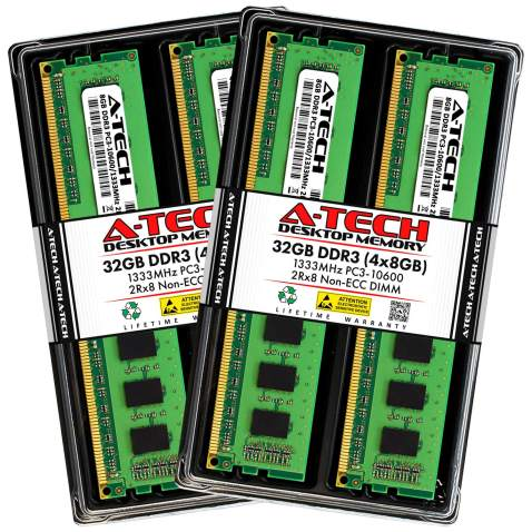 2 x 4GB RAM for Toshiba Satellite A505-S6017 A-Tech 8GB DDR3 1066MHz SODIMM PC3-8500 204-Pin Non-ECC Memory Upgrade Kit