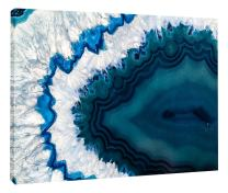 "Designart PT14377-20-12 Blue Brazilian Geode - Abstract Canvas Wall Art Print, 12"" H x 20"" W x 1"" D 1P"