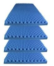 "Foamily Ice Blue Acoustic Foam Egg Crate Panel Studio Foam Wall Panel 48"" X 24"" X 2.5"" (4 Pack)"