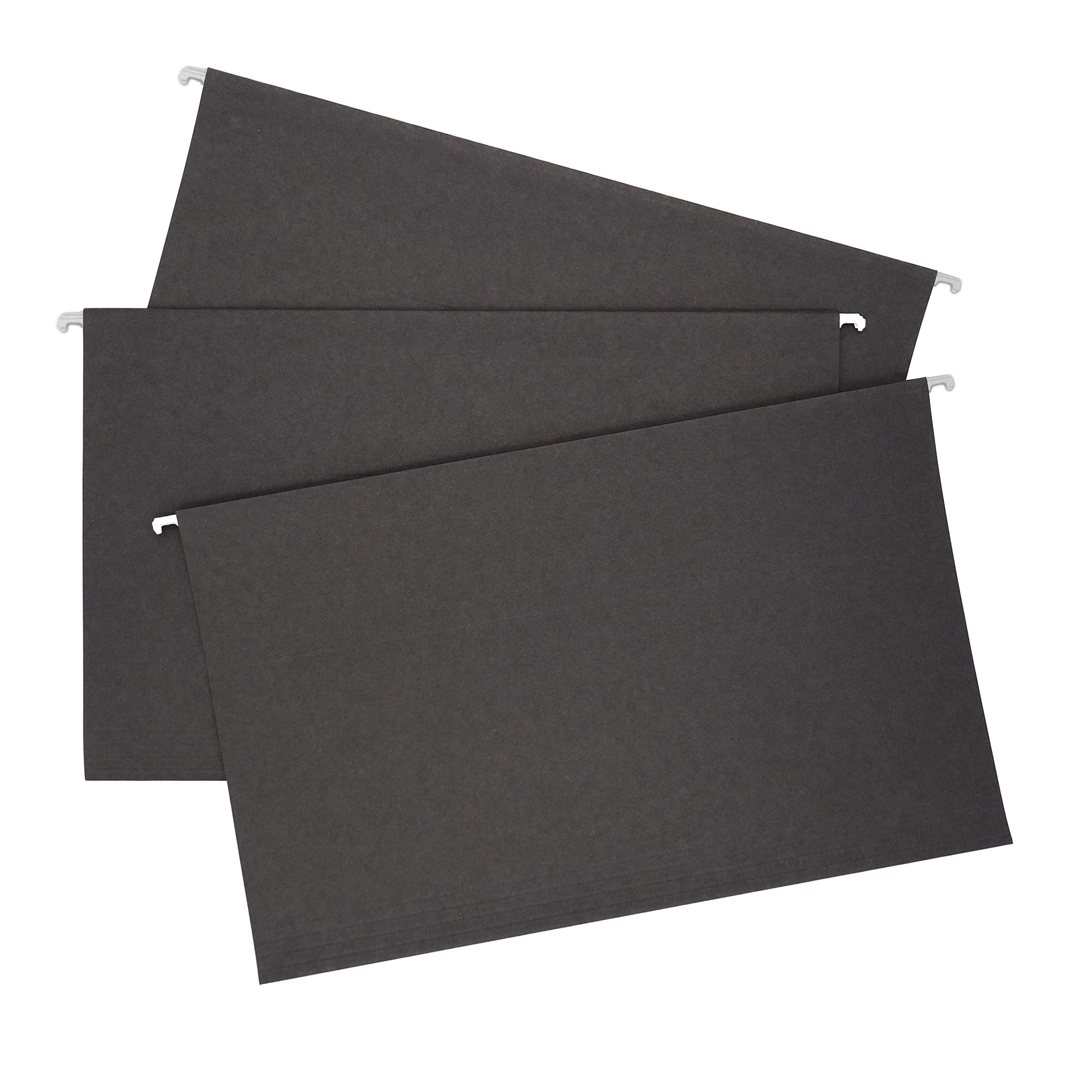 Smead Colored Hanging File Folder, Tabs Not Included, Legal Size, Black, 25 per Box (64477)