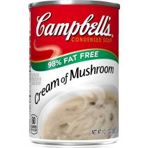 Campbell'sCondensed 98% Fat Free Cream of Mushroom Soup, 10.5 oz. Can (Pack of 12)