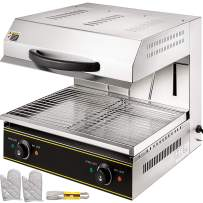 VBENLEM Salamander Broiler 4000W Liftable Burner Salamander Oven Countertop Salamander Broiler Electric Cheese Melter Stainless Steel Raclette Grill 50-300℃ For Home Commercial Use